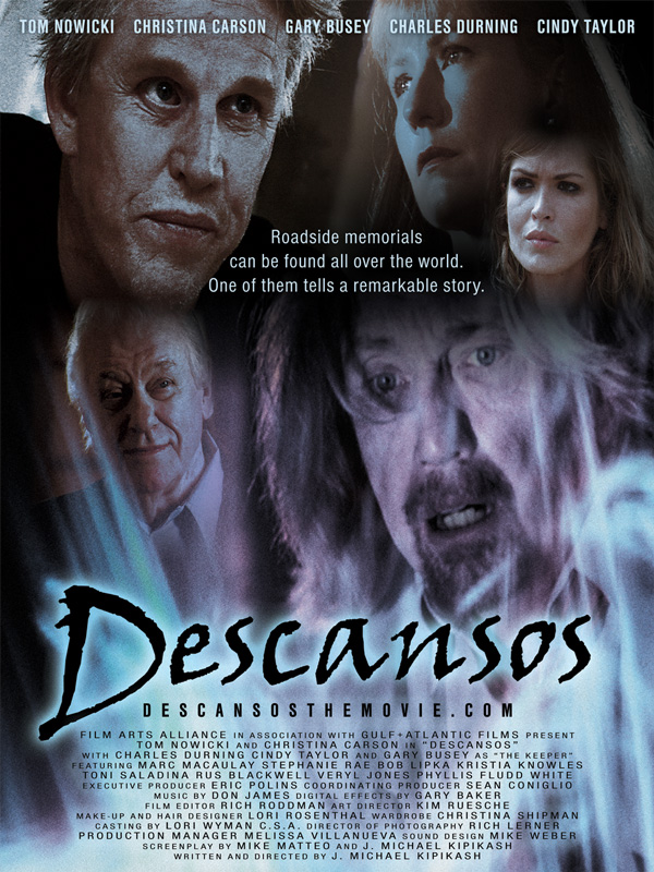 Poster to the 2006 Cult Classic Film Descansos starring Gary Busey