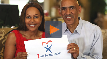 Tony Dungy and Lauren Dungy are foster parents who support the Guardian ad Litem program helping abused neglected children and representing them in court